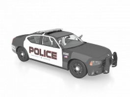 Police car 3d model preview