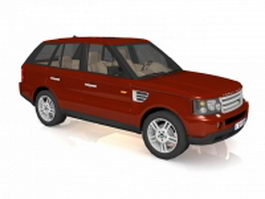 Land Rover discovery sport SUV 3d model preview