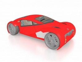 Lexus 2054 concept car 3d preview