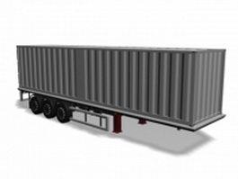 Semi-trailer 3d model preview