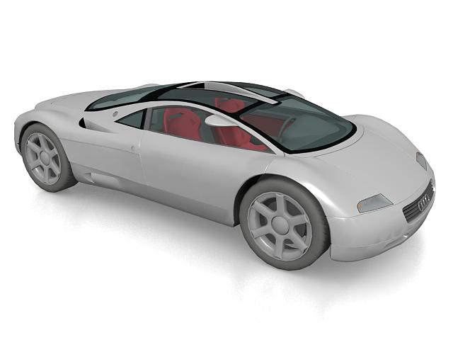 Audi Avus quattro concept car 3d rendering