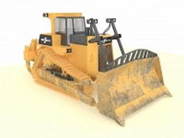 Bulldozer construction equipment 3d preview