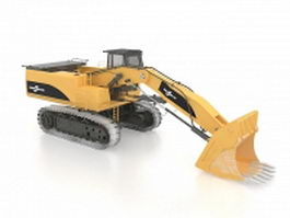 Front end loader 3d preview