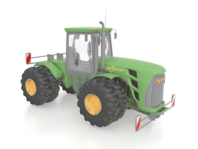 Engineering tractor 3d rendering