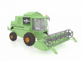 Combine harvester 3d preview