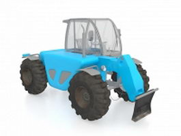 Row-crop tractor 3d preview