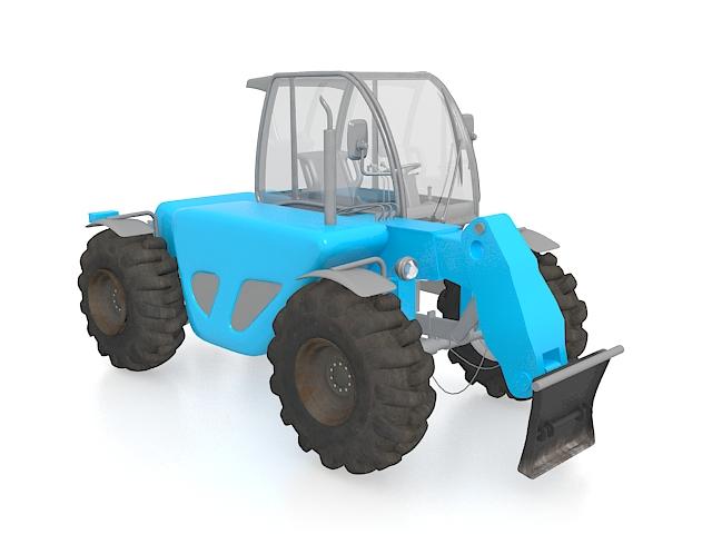 Row-crop tractor 3d rendering