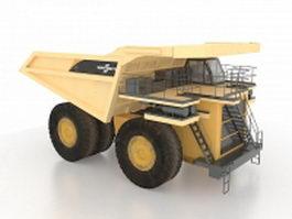 Heavy duty dump truck 3d preview