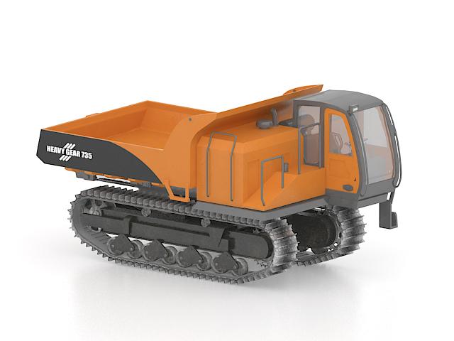 Tracked dump truck 3d rendering