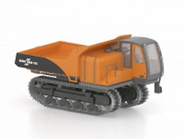 Tracked dump truck 3d preview