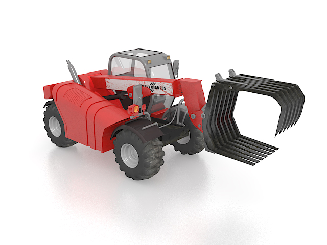 Mini log loader 3d rendering