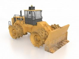 Landfill compactor 3d model preview
