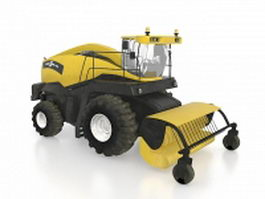 Road construction machinery 3d preview