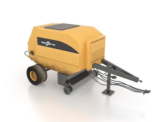Asphalt paving equipment trailer 3d rendering
