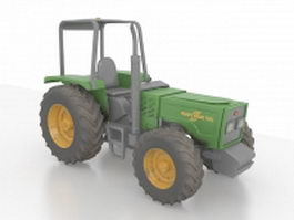 Compact utility tractor 3d preview
