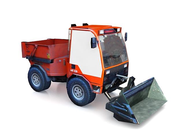 Bulldozer truck dumper 3d rendering
