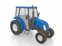 Modern tractor 3d model preview