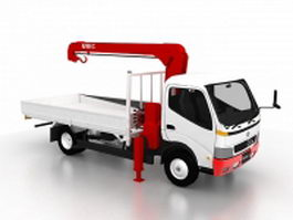 Toyota tow truck 3d model preview