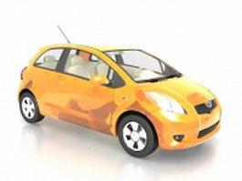 Toyota Yaris subcompact car 3d model preview
