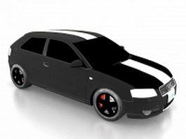 Audi A3 compact car 3d preview
