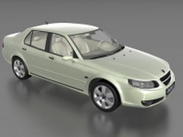 Saab 9-3 compact executive car 3d preview