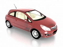 Opel Corsa supermini car 3d preview