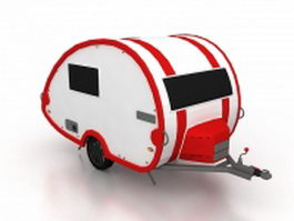 Small camper trailer 3d preview