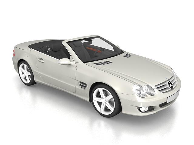 Mercedes-Benz SL 500 roadster 3d rendering