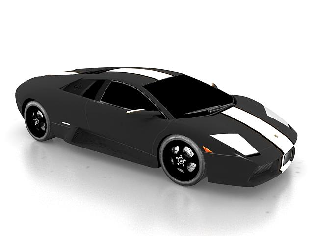 Lamborghini Murcielago sports car 3d rendering