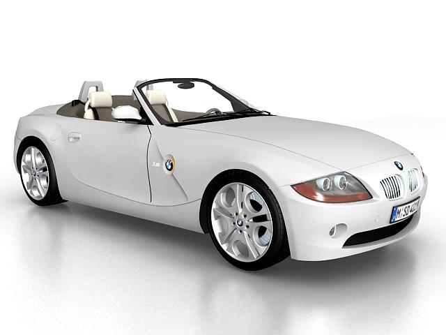 BMW Z4 roadster 3d rendering