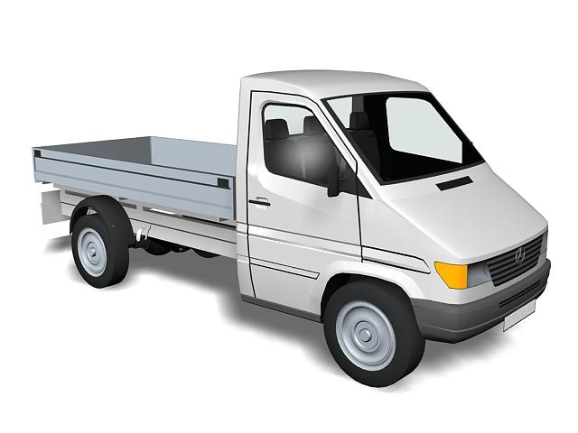 Mercedes-Benz light truck 3d rendering