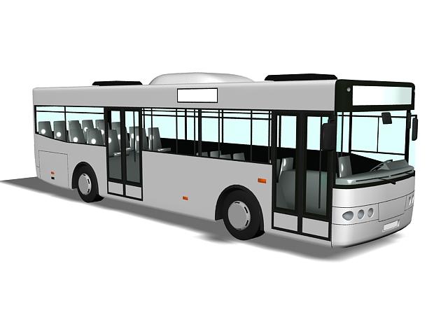 Transit bus 3d rendering