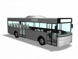 Single-decker rigid bus 3d preview