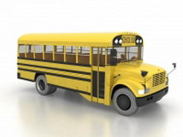North American school bus 3d preview