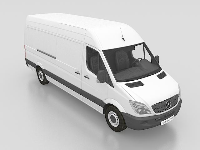 Mercedes-Benz Sprinter van 3d rendering