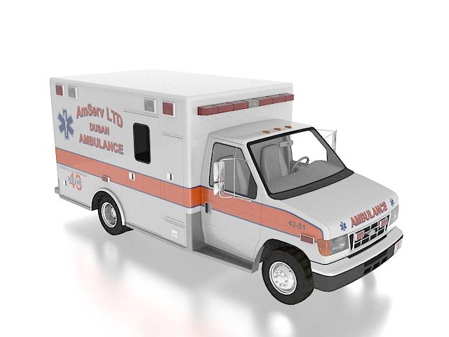Vintage ford ambulance 3d rendering