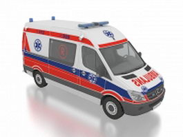 Mercedes Benz ambulance sprinter 3d model preview