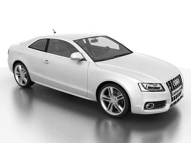 Audi S5 V6 Turbo 3d rendering