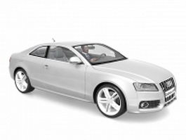 Audi S5 coupe with driver 3d preview