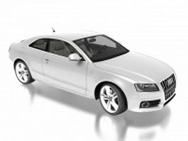 Audi S5 Ice Silver 3d model preview