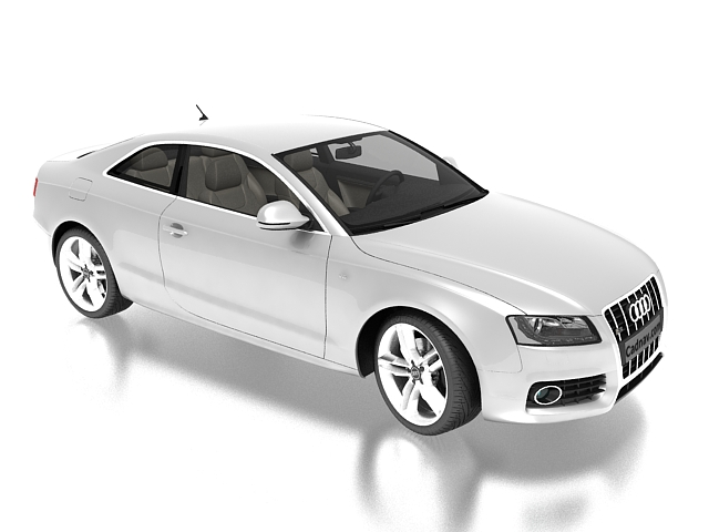 Audi S5 Ice Silver 3d rendering