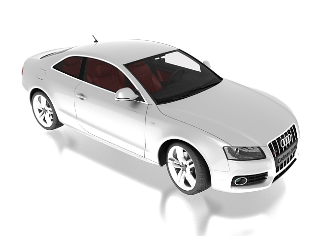 Audi A5 Coupe 3d rendering