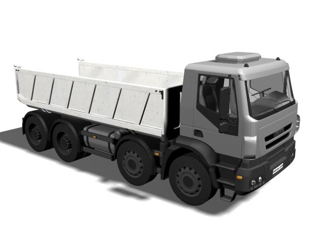 Dump truck 3d rendering