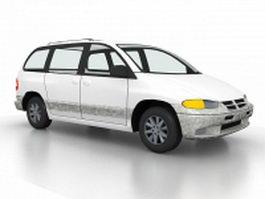 Old sedan car 3d model preview