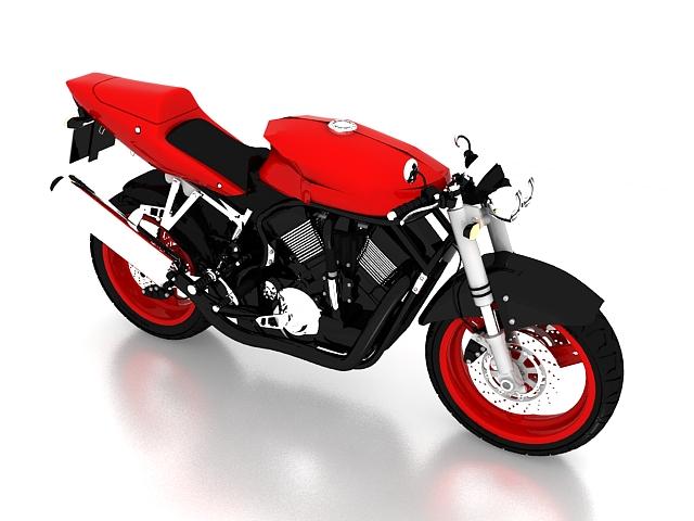 Suzuki Bandit motorcycle 3d rendering
