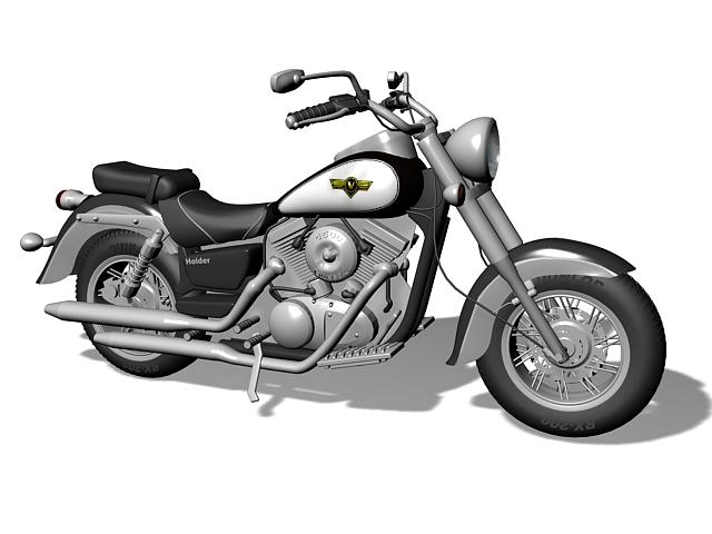 2008 Kawasaki Vulcan 1500 Classic 3d rendering