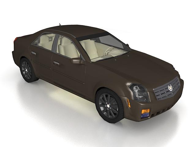 2007 Cadillac CTS sedan 3d rendering