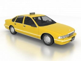 Chevy Caprice taxi cab 3d preview