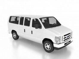 Ford club wagon van 3d model preview