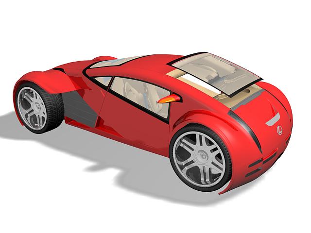 Lexus 2054 concept 3d rendering
